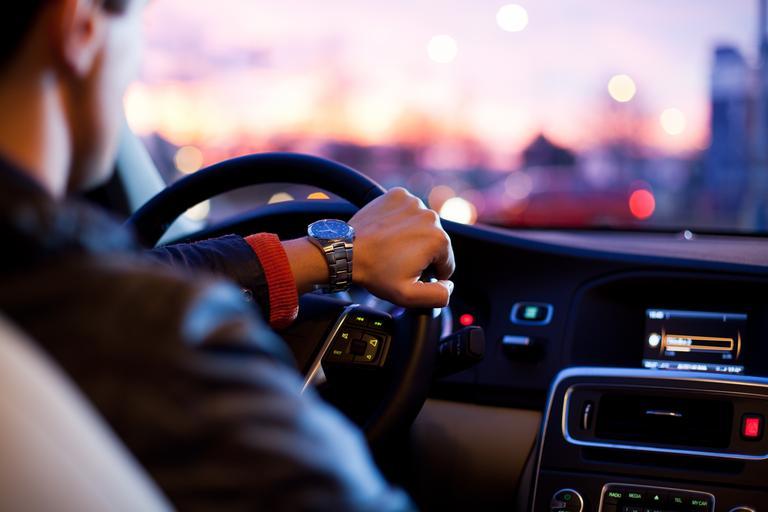jízda autem