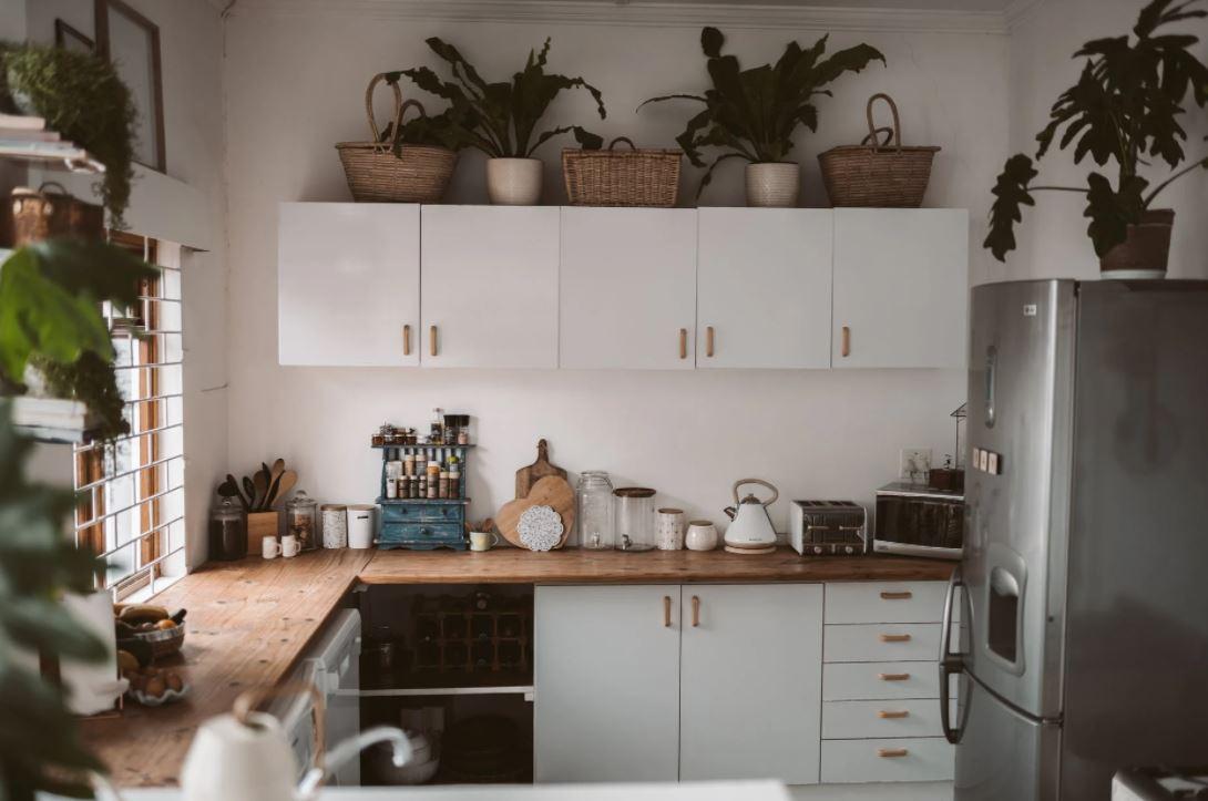 kuchyně s chladničkou